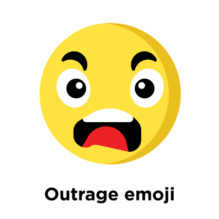 Outrage emoji icon isolated on white background, vector illustration