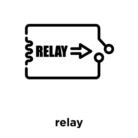relay icon isolated on white background, vector illustration 向量圖像