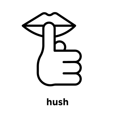 hush icon isolated on white background, vector illustration Vectores