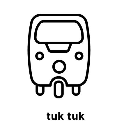 tuk tuk icon isolated on white background, vector illustration