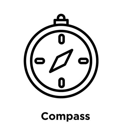 Compass icon isolated on white background, vector illustration