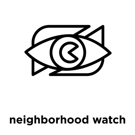 neighborhood watch icon isolated on white background, vector illustration