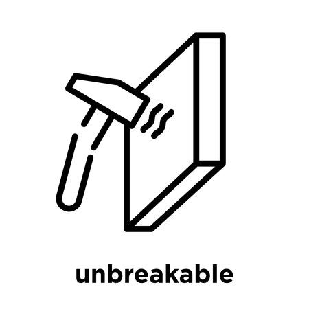 unbreakable icon isolated on white background, vector illustration Illustration