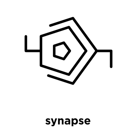 synapse icon isolated on white background, vector illustration Vettoriali