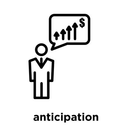 anticipation icon isolated on white background, vector illustration Illustration