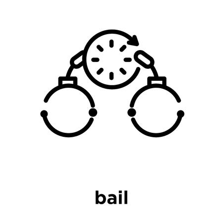 icône de caution isolé sur fond blanc, illustration vectorielle