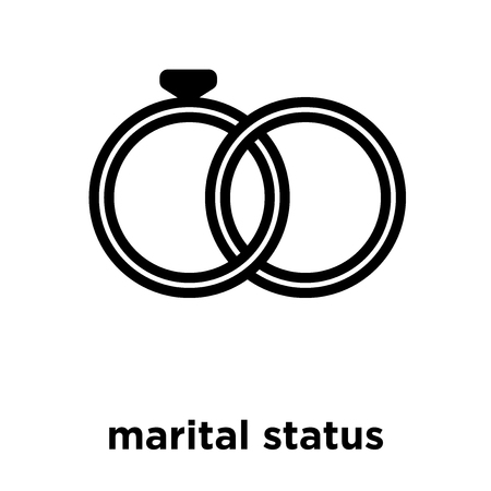 marital status icon isolated on white background, vector illustration