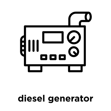 diesel generator icon isolated on white background, vector illustration