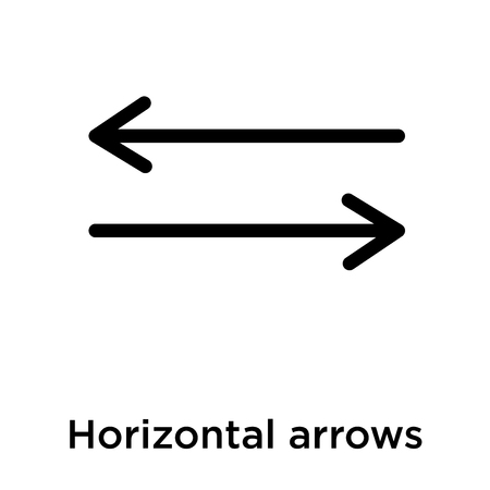 Horizontal arrows icon isolated on white background, vector illustration 일러스트