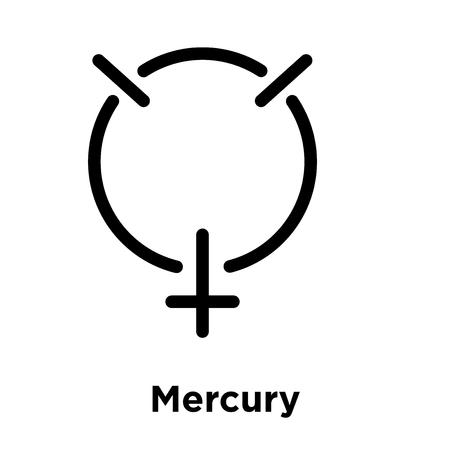 Mercury icon isolated on white background, vector illustration