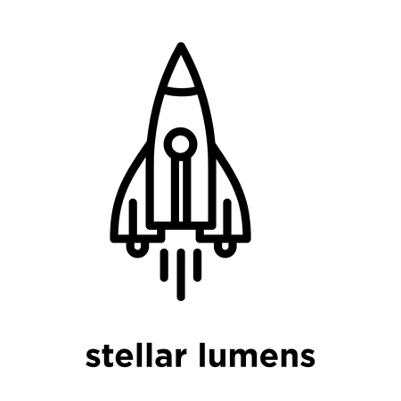 stellar lumens icon isolated on white background, vector illustration