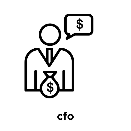 cfo icon isolated on white background, vector illustration Stock Illustratie