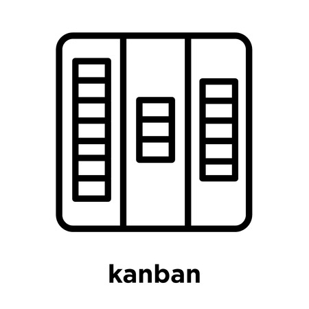 kanban icon isolated on white background, vector illustration
