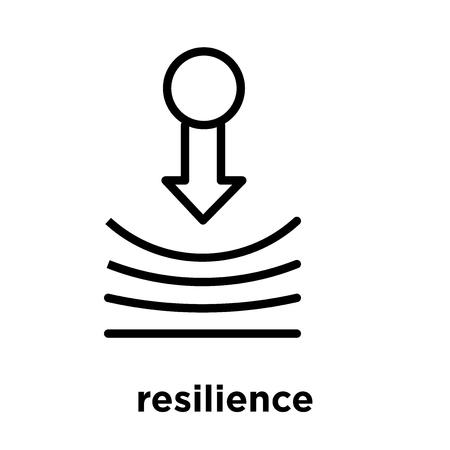 Resilienzikone lokalisiert auf weißem Hintergrund, Vektorillustration
