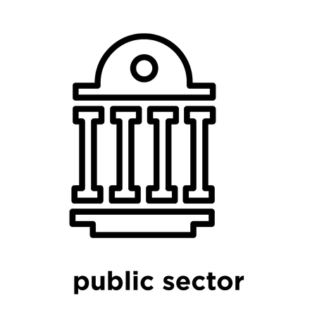 public sector icon isolated on white background, vector illustration Иллюстрация