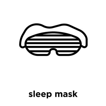 sleep mask icon isolated on white background, vector illustration