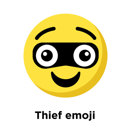 Thief emoji icon isolated on white background, vector illustration 일러스트