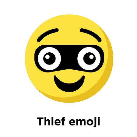 Thief emoji icon isolated on white background, vector illustration 일러스트