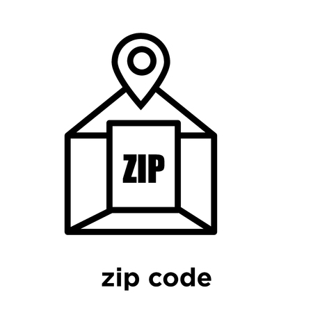 zip code icon isolated on white background, vector illustration