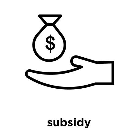 subsidy icon isolated on white background, vector illustration