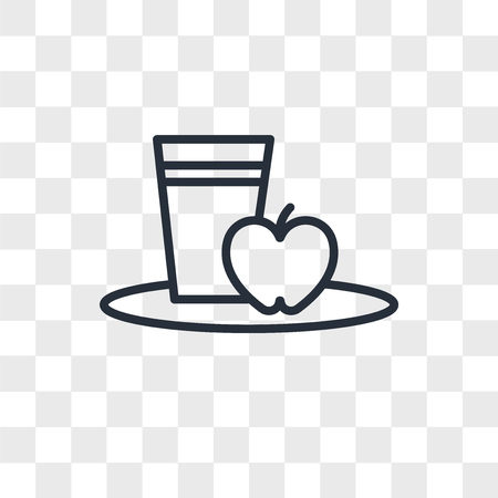 Diet vector icon isolated on transparent background, Diet logo concept Ilustração