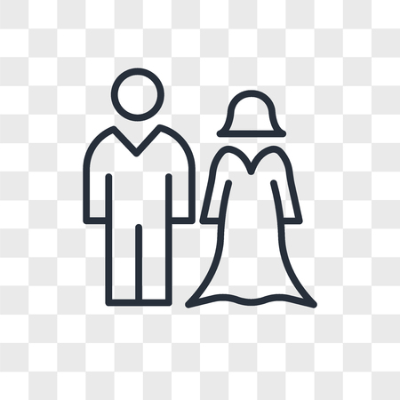 spouse vector icon isolated on transparent background, spouse logo concept Illustration
