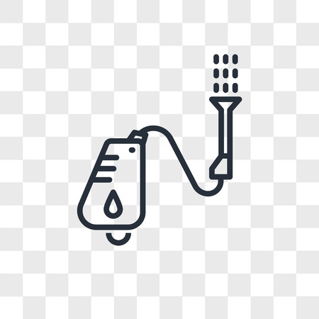 pressure washer vector icon isolated on transparent background, pressure washer logo concept Illustration