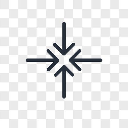 Center align vector icon isolated on transparent background, Center align logo concept