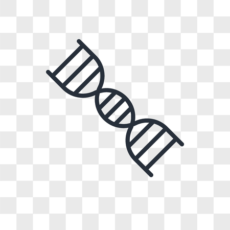 double helix vector icon isolated on transparent background, double helix logo concept  イラスト・ベクター素材