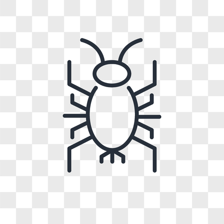 cricket bug vector icon isolated on transparent background, cricket bug logo concept