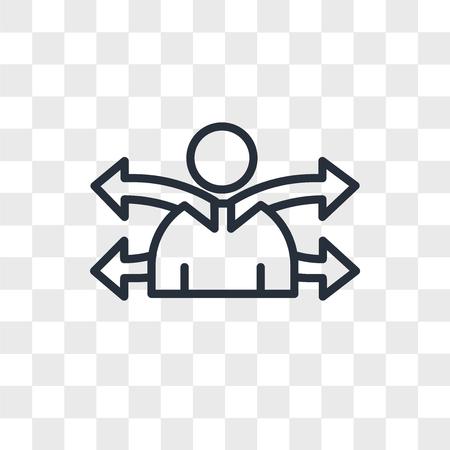 versatility vector icon isolated on transparent background, versatility logo concept