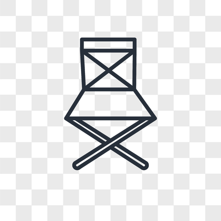 folding chair vector icon isolated on transparent background, folding chair logo concept  イラスト・ベクター素材