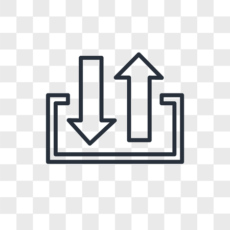 input output vector icon isolated on transparent background, input output logo concept
