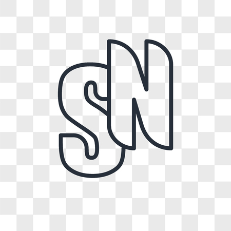 sn vector icon isolated on transparent background, sn logo concept