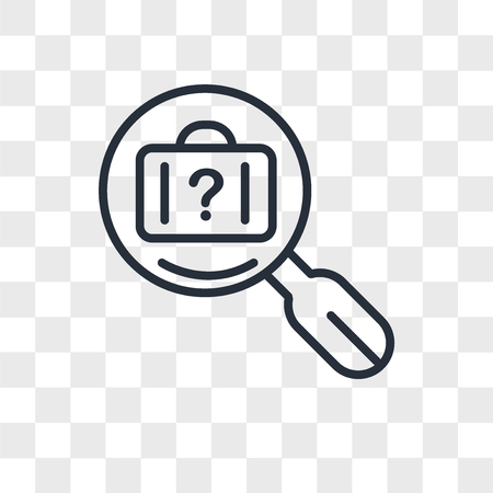 lost and found vector icon isolated on transparent background, lost and found logo concept