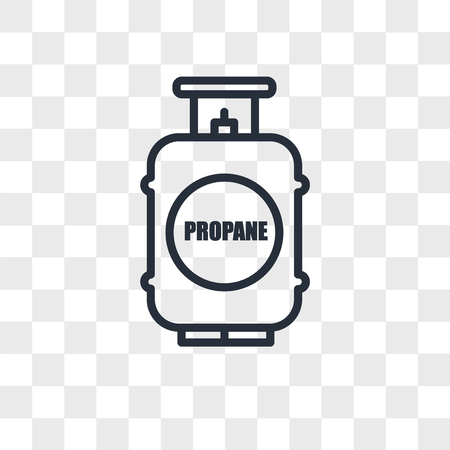 propane tank vector icon isolated on transparent background, propane tank logo concept  イラスト・ベクター素材
