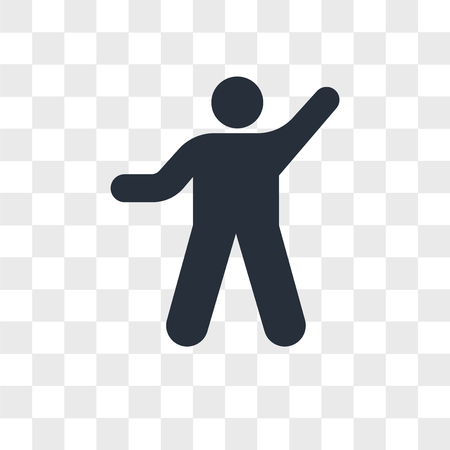 Person exercise heating vector icon isolated on transparent background, Person exercise heating logo concept