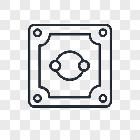 Socket vector icon isolated on transparent background, Socket logo concept Ilustração