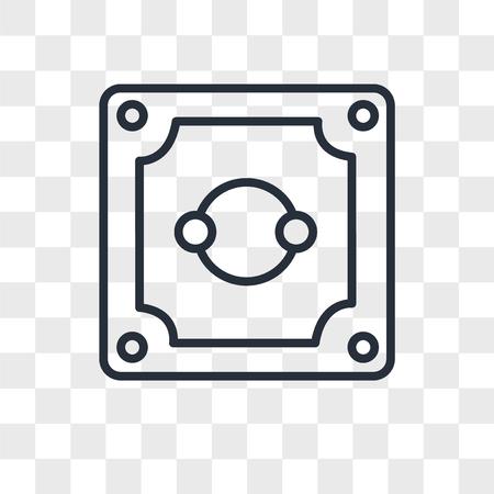 Socket vector icon isolated on transparent background, Socket logo concept Illustration