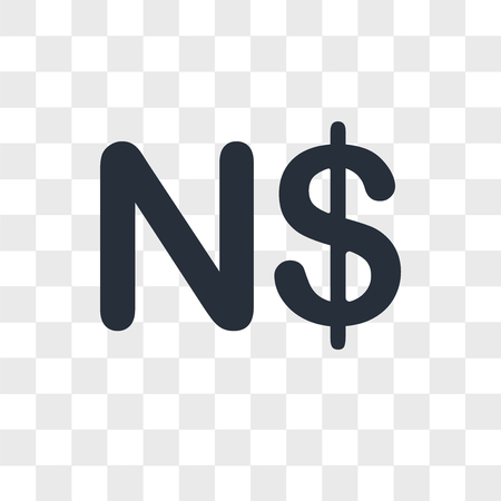 Namibia currency vector icon isolated on transparent background, Namibia currency logo concept Illustration