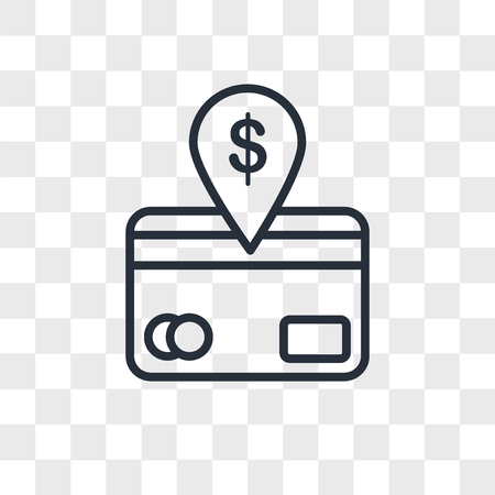 direct debit vector icon isolated on transparent background, direct debit logo concept