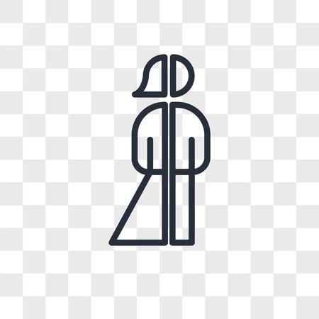 Icono de vector de persona neutral de género aislado sobre fondo transparente, concepto de logotipo de persona neutral de género