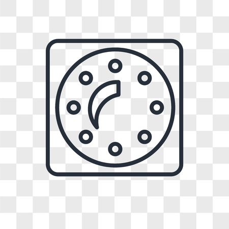 Dimmer vector icon isolated on transparent background, Dimmer logo concept