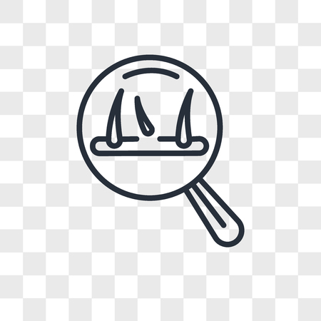 hair loss vector icon isolated on transparent background, hair loss logo concept