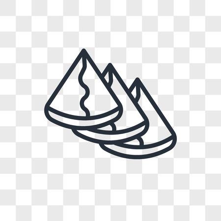 samosa vector icon isolated on transparent background, samosa logo concept