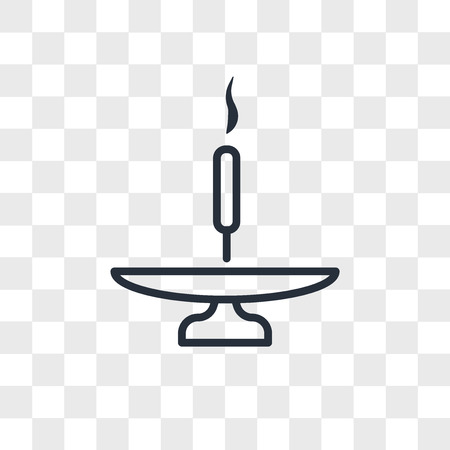 Incense stick on a base vector icon isolated on transparent background, Incense stick on a base logo concept