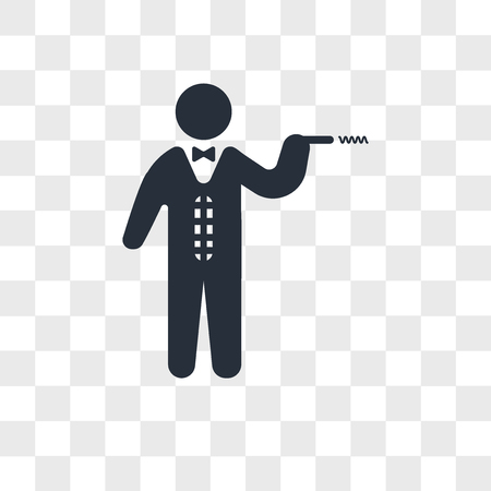 Man in suit smoking a cigarette vector icon isolated on transparent background, Man in suit smoking a cigarette logo concept
