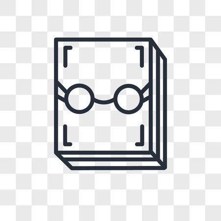 Literature vector icon isolated on transparent background, Literature concept