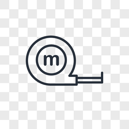 Measuring tape vector icon isolated on transparent background, Measuring tape concept