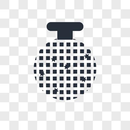 Disco ball vector icon isolated on transparent background, Disco ball logo concept